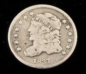 1837 Silver Half Dime -Nice Detail