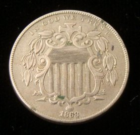 1868 Hi-Grade Shield Nickel