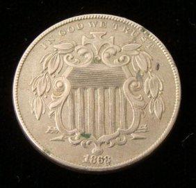 1868 Hi-Grade Shield Nickel