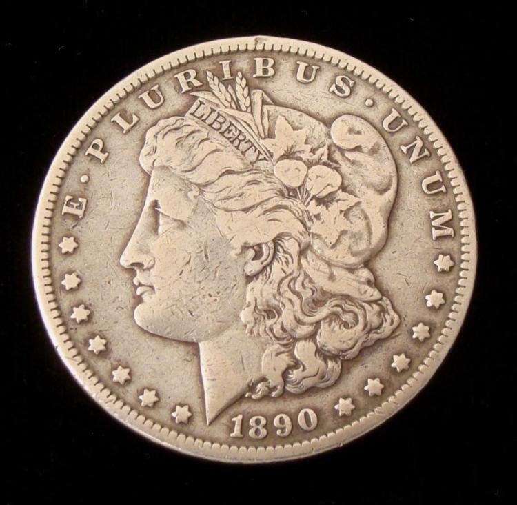 1890-CC Silver Morgan Dollar -Nice Coin