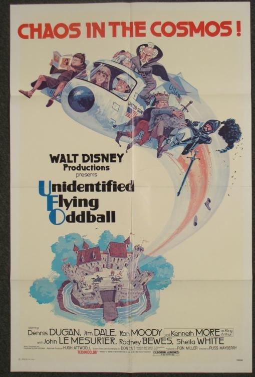 Unidentified Flying Oddball 1 Sh Disney Movie Poster