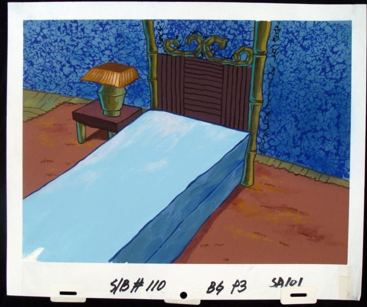 Spongebob Original Production Background Squidward Bed