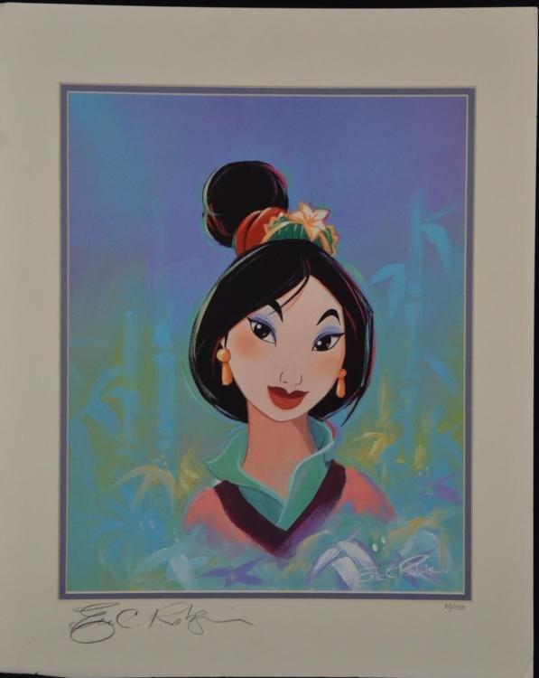 Mulan Signed Eric Robison Ltd Ed Disney Animation Cel