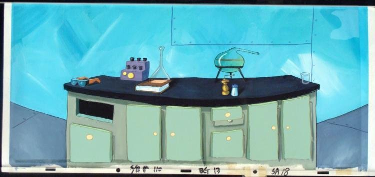 Orginal Cel Animation SpongeBob Background Experiment