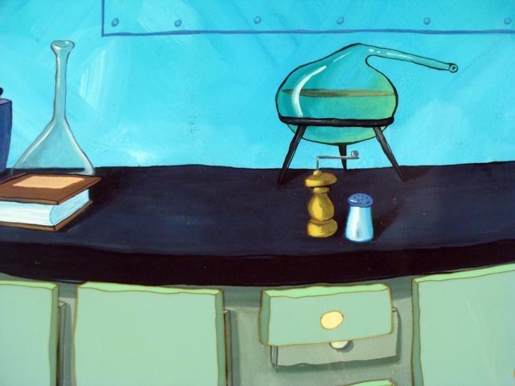 Orginal Cel Animation SpongeBob Background Experiment - 2