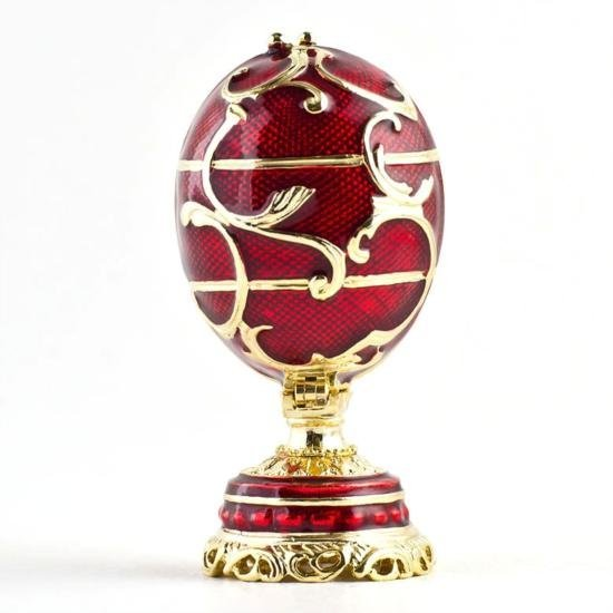 Miniature Flowers Basket Faberge Egg