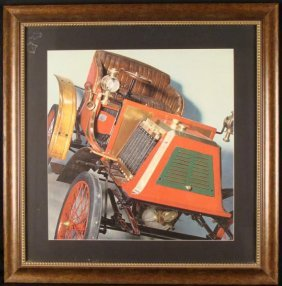 Antique Early Car Photo Large Print Framed