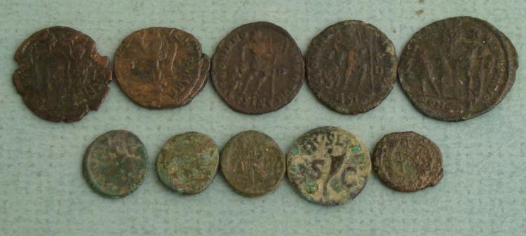 10 Ancient Roman Coins- Honorius Arcadius Valens - 3