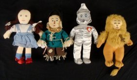 4 Wizard of Oz Collectable Largo Toys Dolls Collection