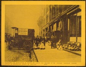 Vintage Photo- Telephones being Delivered Chicago 1910
