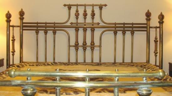 Vintage Brass & Marble Poster Bed King Size Frame - 2