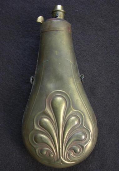 Powder Flask depicting Ornate Pattern