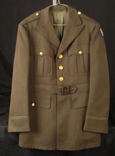 WWII OFFICERS UNIFORM-TAILOR MADE -