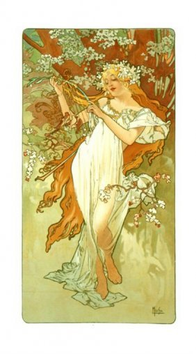 Alphonse Mucha : Spring Art Print