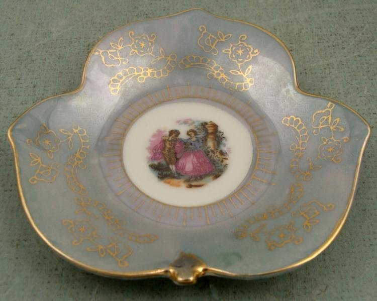 Antique Luster Fancy Rococo Style Small Tea Set 4 pc - 2