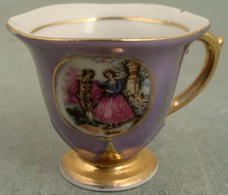 Antique Luster Fancy Rococo Style Small Tea Set 4 pc - 3