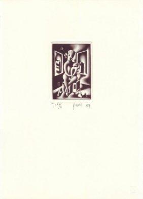 Mark Kostabi : Oedipius Art Print