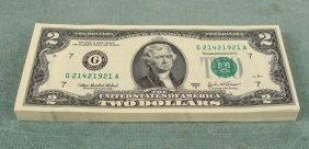80 Consecutive $2 Chicago Bank Notes G 2003 A CU
