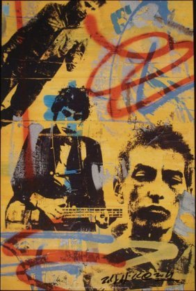 Bobby Hill Bob Dylan Signed Pop Art Print