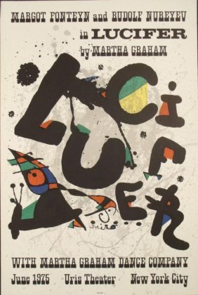 Joan Miro : Lucifer Abstract Devil Art Print