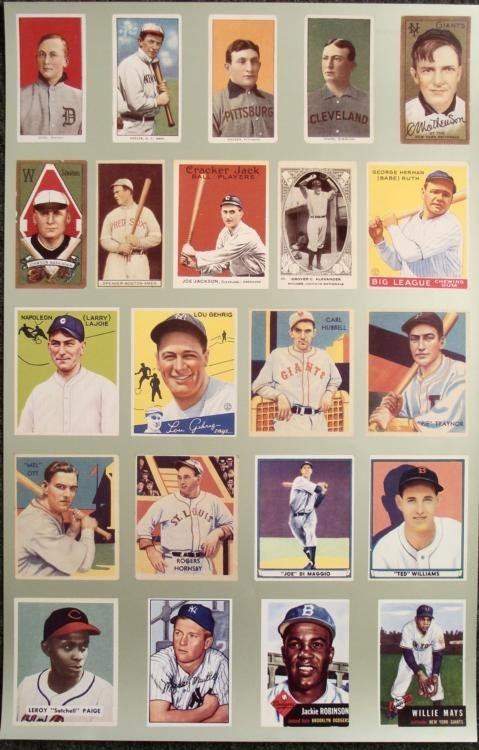 American League National League Pre-1952 Rare Poster