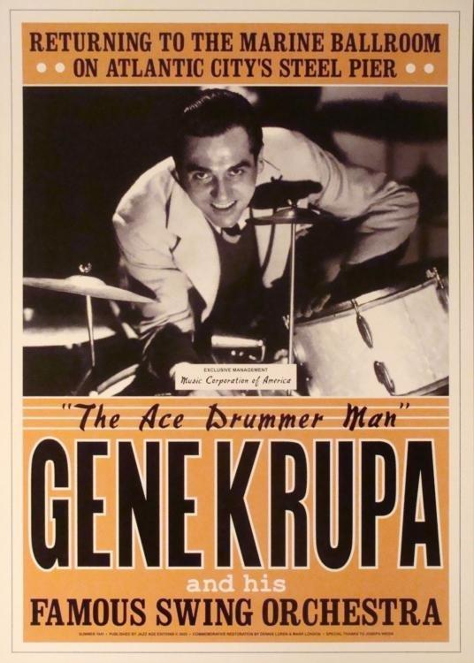 4 Jazz Concert Repro Posters Gillespie Goodman Vaughan - 2