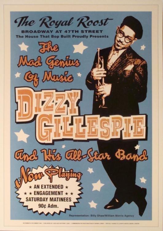 4 Jazz Concert Repro Posters Gillespie Goodman Vaughan - 3
