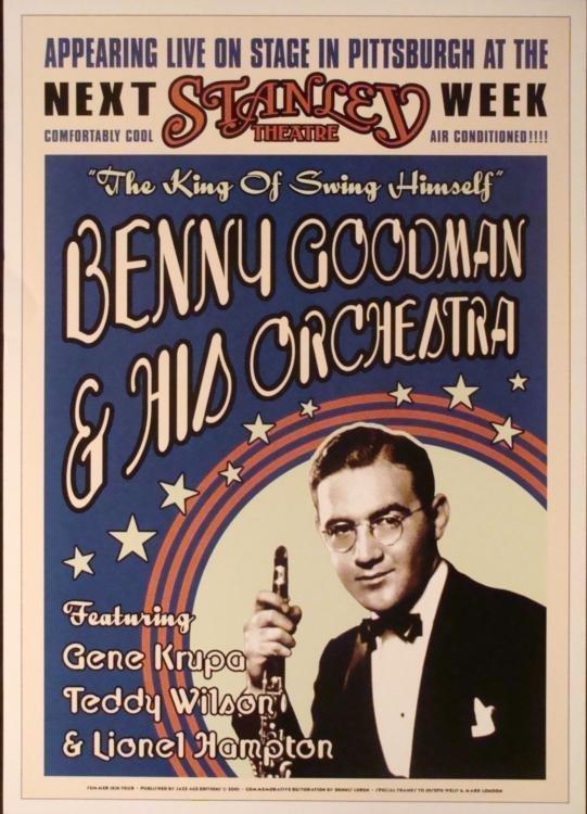 4 Jazz Concert Repro Posters Gillespie Goodman Vaughan - 4