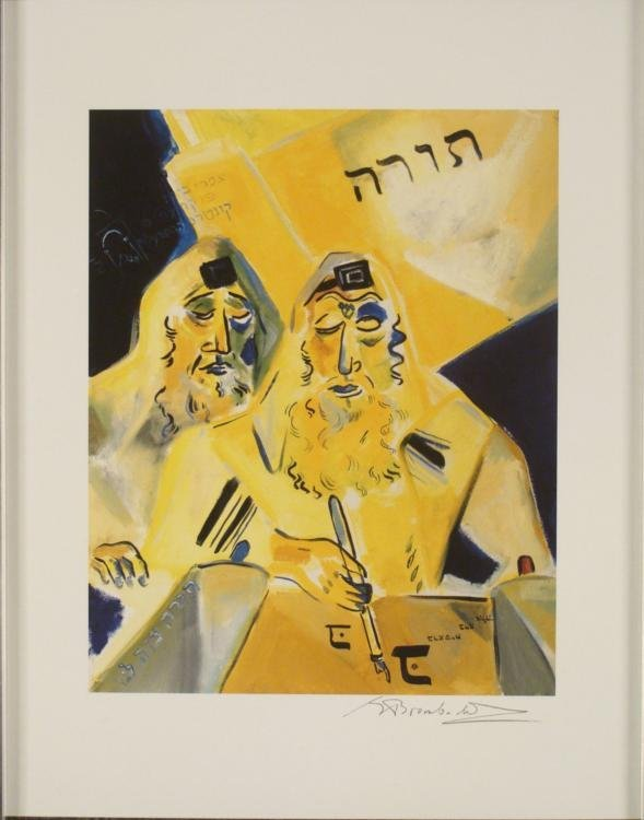 Shoshanna Brombacher Moses and the Mitteler Rebbe Print