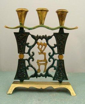 Vintage Brass Shabbat (Sabbath) Candle Holders