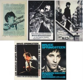 5 Bruce Springsteen 12x18 Repro Concert & Album Posters