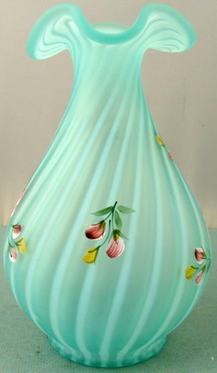 Shelley Fenton Signed Sea Mist Hand Painted Decanter