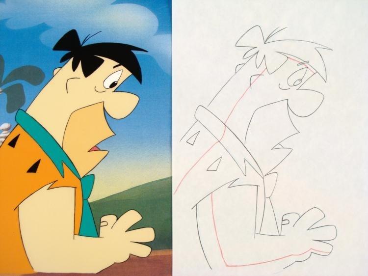 Fred Animation Drawing Art Flintstones Original Cel - 2
