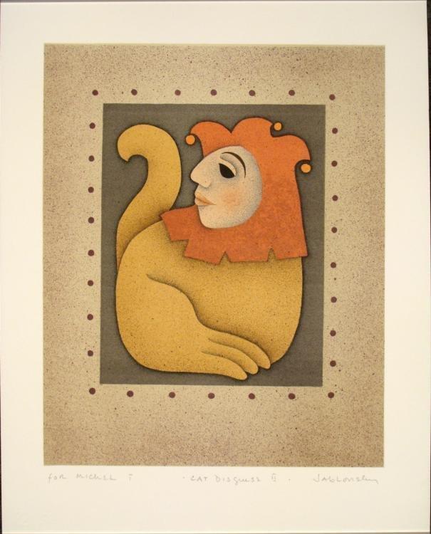 Cat Disguise II Art Print Carol Jablonsky