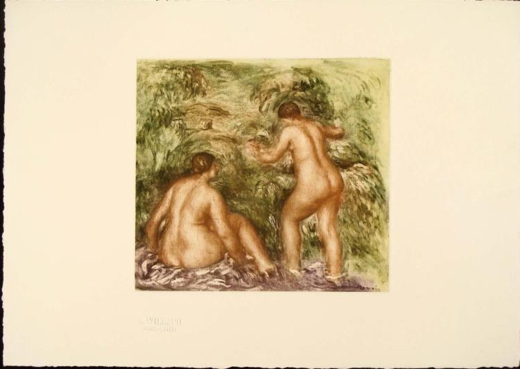Renoir Colored Etching Art Print - Nues de Dos