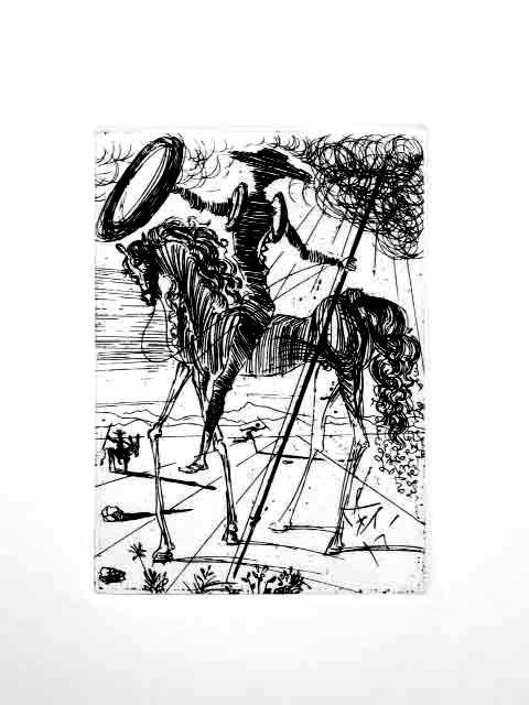 Salvador Dali Posthumous Etching Don Quixote