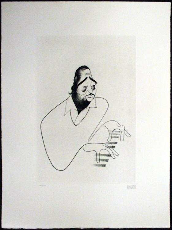 Al Hirschfeld: Duke Ellington Etching Signed