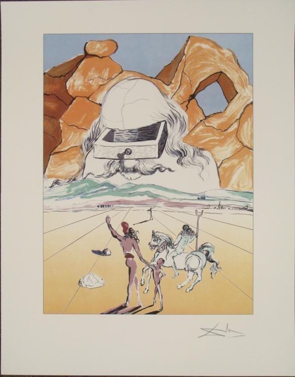 Salvador Dali : The Banker Surrealistic Art Print