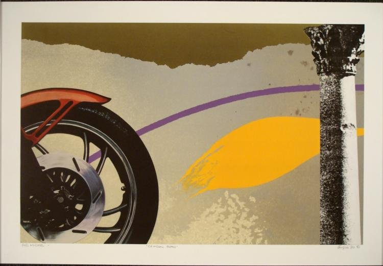 Michael Kirigu Crimson Beau Signed Art Print