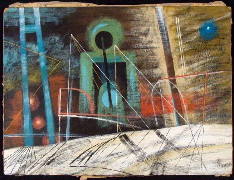 John Tunnard Original Modernist Oil Painting