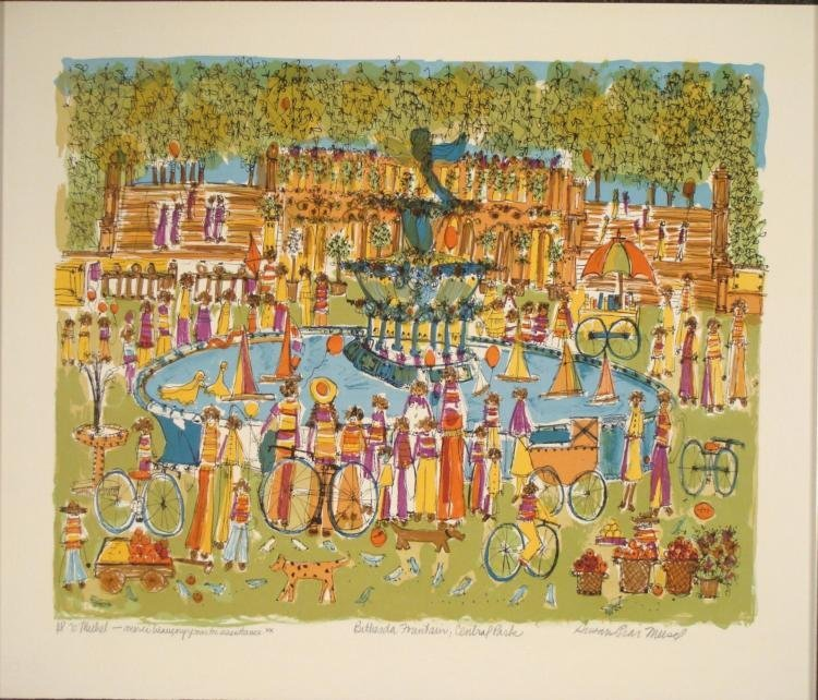 Susan Pear Meisel Signed Art Print Bethesda Fountain