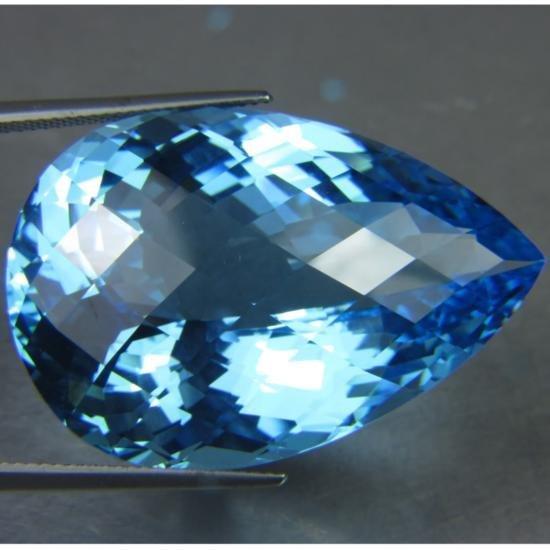 ONE OF A KIND 96.40CT HUGE NATURAL SWISS BLUE TOPAZ MWF