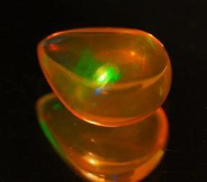1.42 Ct. Striking Pear Cabochon Natural Multi Color Opa