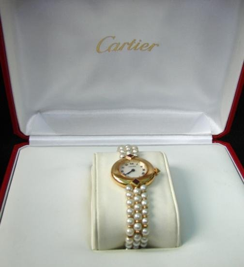 GT0013 Vintage Cartier Watch with Box and Links - 2