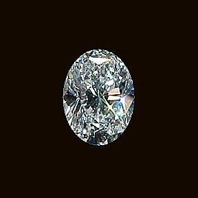 3 carat Oval Facet Cut VVS1 Color H BIANCO diamonde