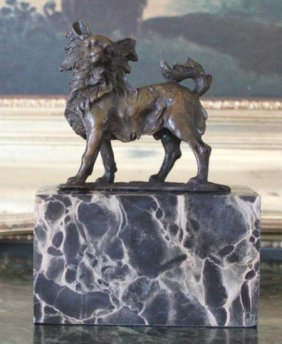 Graceful Chihuahua Bronze Sculpture After L. Carvin