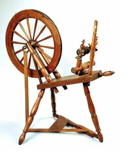 FY130 Early Flax Spinning Wheel