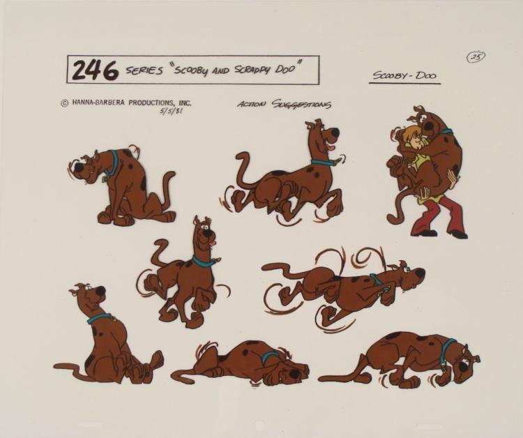 Scooby Doo Action Poses Originl Model Cel Animation Art