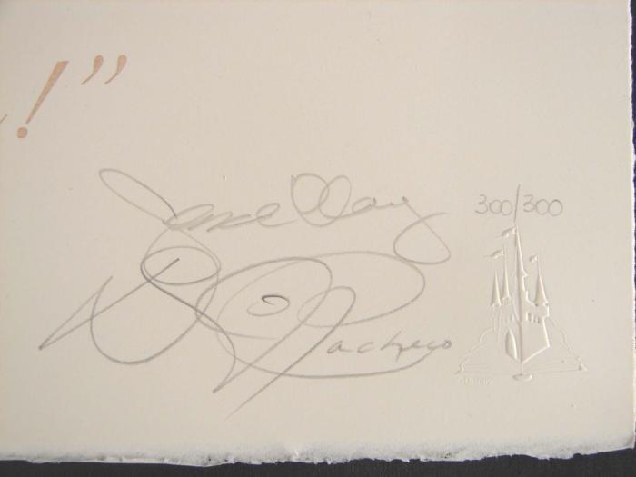 BAMBI Disney WAKE UP LE Signed Lithograph Art Print - 3