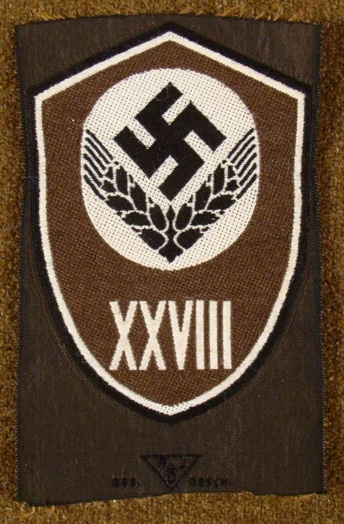RARE ORIGINAL RAD/REICHS ARBEIT DIENT RANK & UNIT PATCH